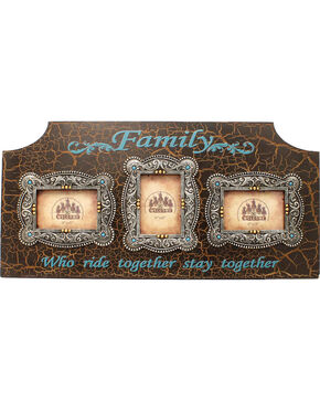 """Western Moments """"Family Who Ride Together"""" Triple-Window Frame, Multi, hi-res"""