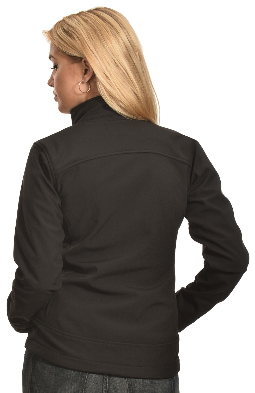 Cowgirl Legend Women's Black Bonded Softshell Jacket , Black, hi-res
