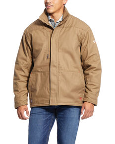 Ariat Men's Beige FR Workhorse Field Jacket , Beige/khaki, hi-res