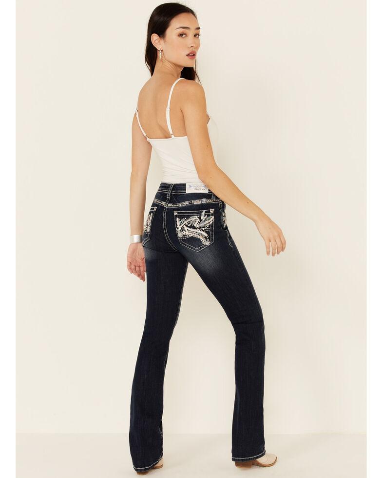 Grace in LA Women's Easy Fit Bootcut Jeans, Blue, hi-res