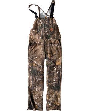 Carhartt Men's Quilt-Lined Camo Bib Overalls - Short, Camouflage, hi-res