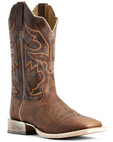 Ariat Men's Sorting Pen Western Boots - Square Toe, Brown, hi-res