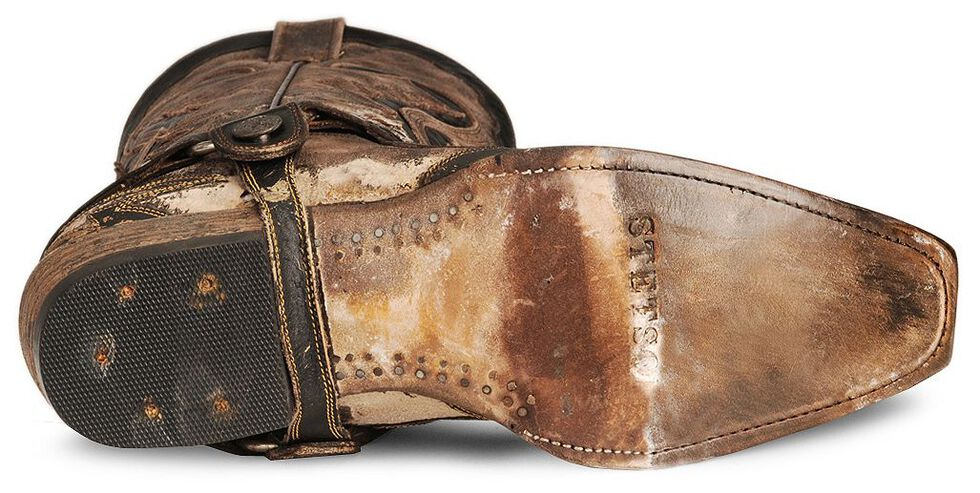 Stetson Brown Harness Cowboy Boots - Snip Toe, Brown, hi-res