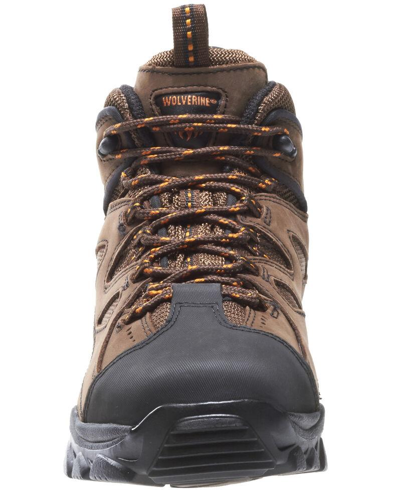 "Wolverine 6"" Lace-Up Hudson Hiker Boots - Steel Toe, Dark Brown, hi-res"