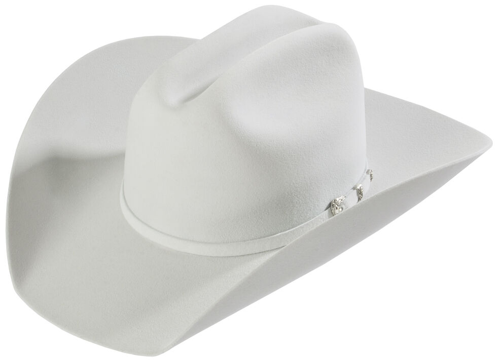 Justin 8X Fur Felt Mustang Cowboy Hat, Platinum, hi-res