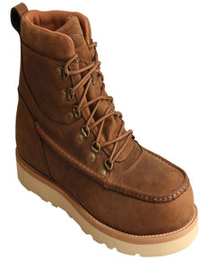 """Twisted X Men's 6"""" Alloy Toe Wedge Work Boots, Brown, hi-res"""