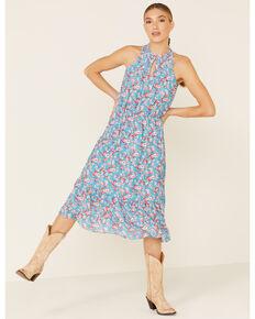 Stetson Women's Blue Floral Prairie Dress, Multi, hi-res
