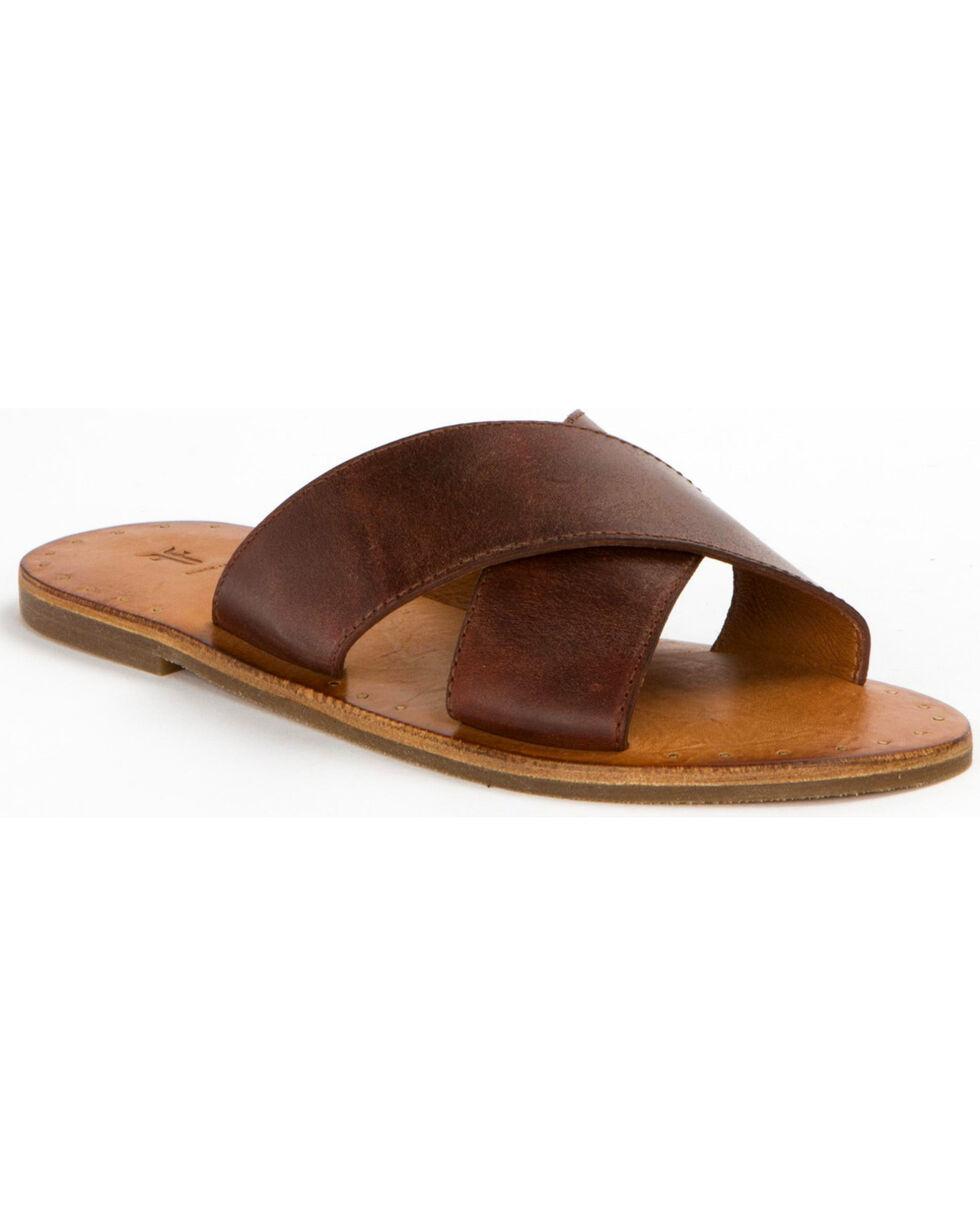 Frye Women's Ally Criss Cross Sandals , Russett, hi-res