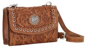 American West Harvest Moon Crossbody Bag, Brown, hi-res