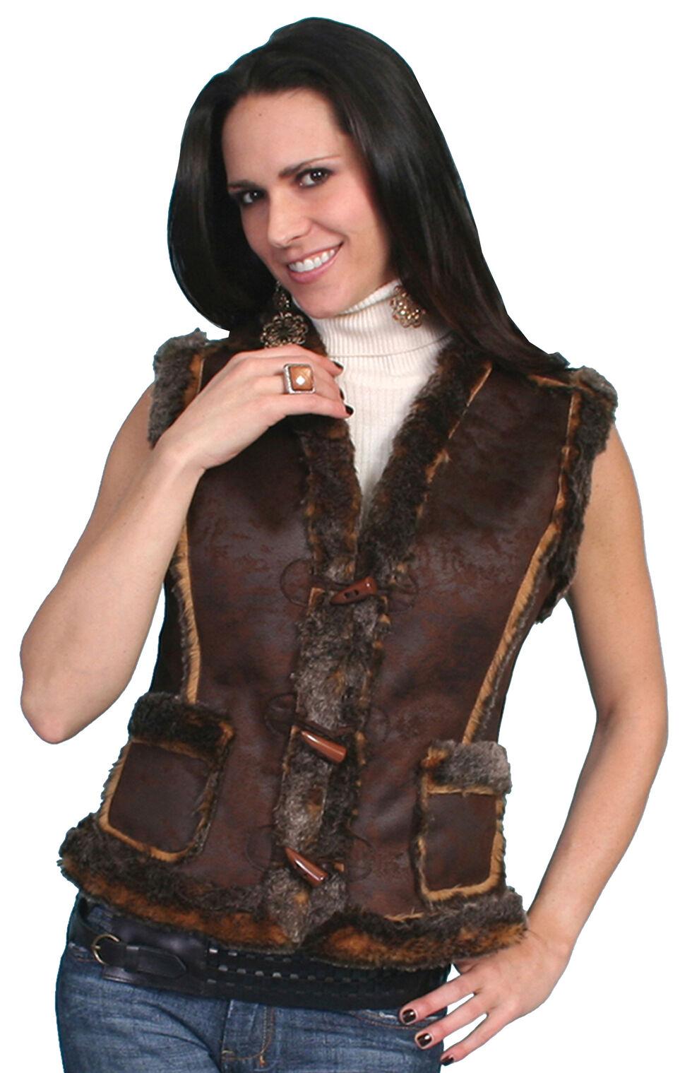 Scully Faux Shearling Vest, Espresso, hi-res