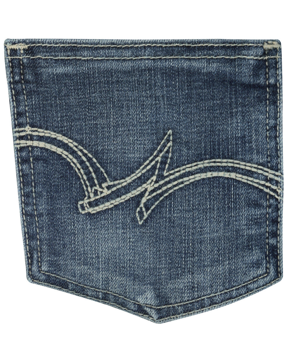 Wrangler Women's Medium Wash Straight Leg Jeans, Med Blue, hi-res