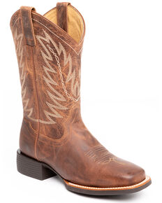 Shyanne Women's The Sure Thing Western Boots - Wide Square Toe, Tan, hi-res