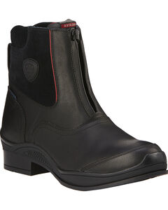 Ariat Men's Extreme H20 Insulated Zip Paddock Boots, Black, hi-res