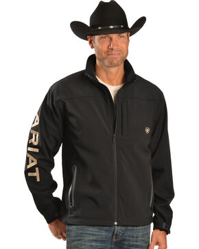 Ariat Team Logo Softshell Jacket, Black, hi-res