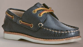 Frye Boys' Sully Boat Shoes, Blue, hi-res