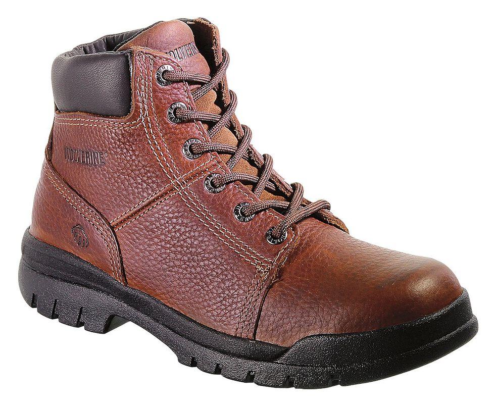 """Wolverine Marquette 6"""" Slip-Resistant Work Boots, Walnut, hi-res"""