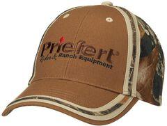 Priefert Logo Embroidered Camo Cap, Brown, hi-res