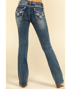 "Grace in LA Women's Leaf 34"" Bootcut Jeans, Blue, hi-res"