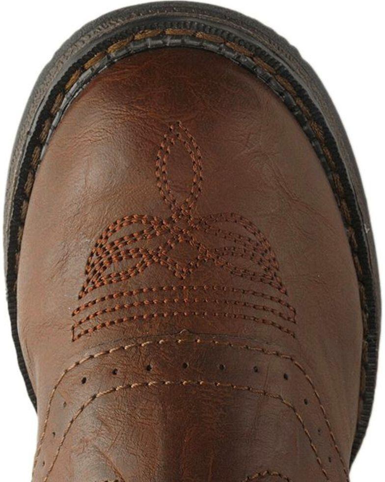 Durango Boys' Lil Rebel Cowboy Boots - Round Toe, Chestnut, hi-res
