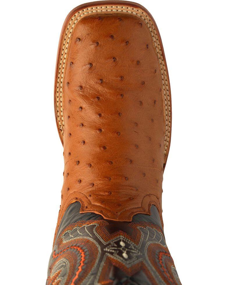 d0f6d68466c Ferrini Men's Cognac Full Quill Ostrich Cowboy Boots - Wide Square Toe
