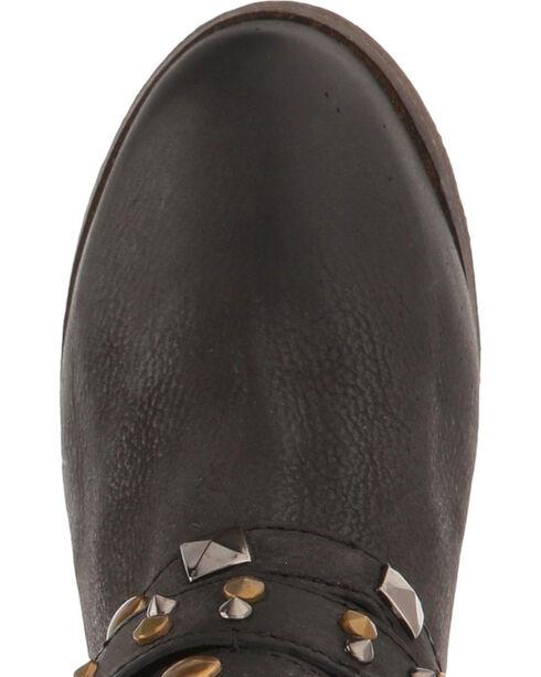 Corral Women's Black Studded Strap Short Boots - Round Toe , Black, hi-res