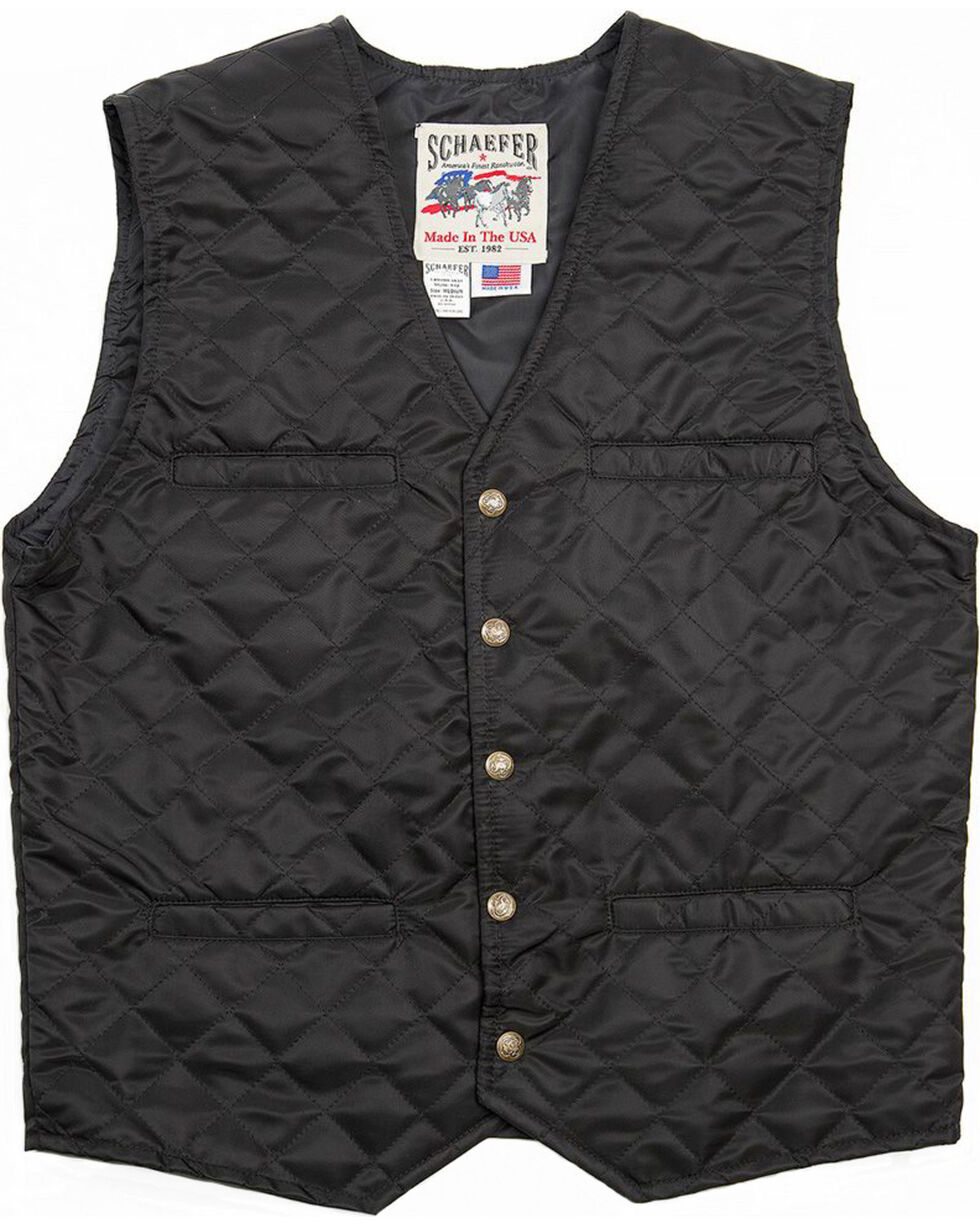 Schaefer Outfitter Men's Black Canyon Vest -  Big 2X , Black, hi-res
