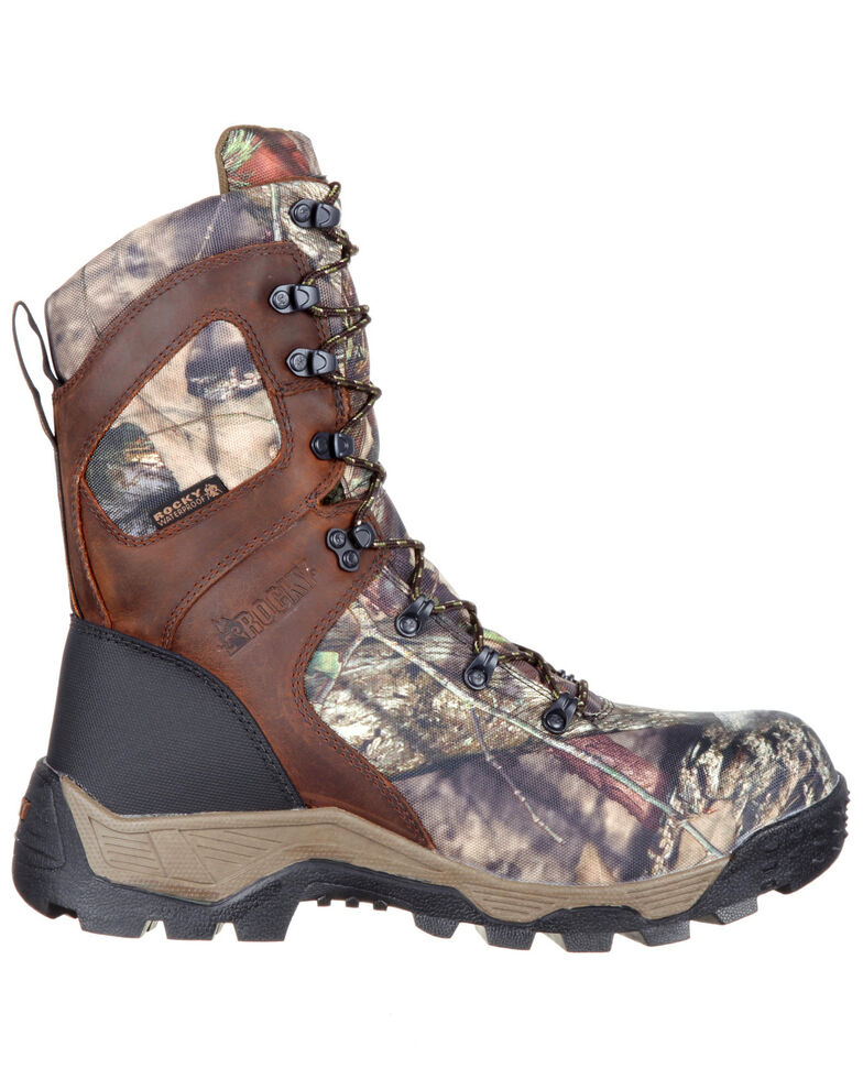 Rocky Men's Sport Pro Insulated Waterproof Outdoor Boots - Round Toe, Camouflage, hi-res