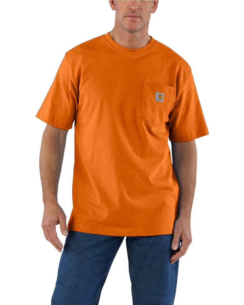 Carhartt Men's Workwear Pocket Short-Sleeve Work T-Shirt - Big , Bark, hi-res