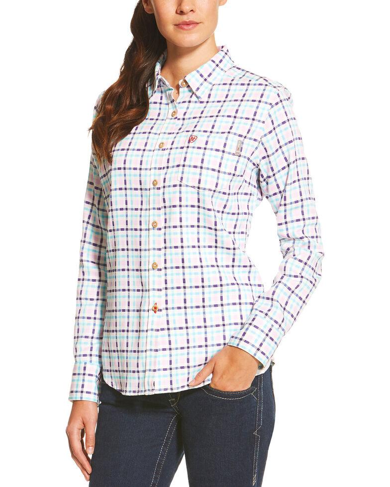 Ariat Women's Purple FR Juliet Work Shirt, Purple, hi-res