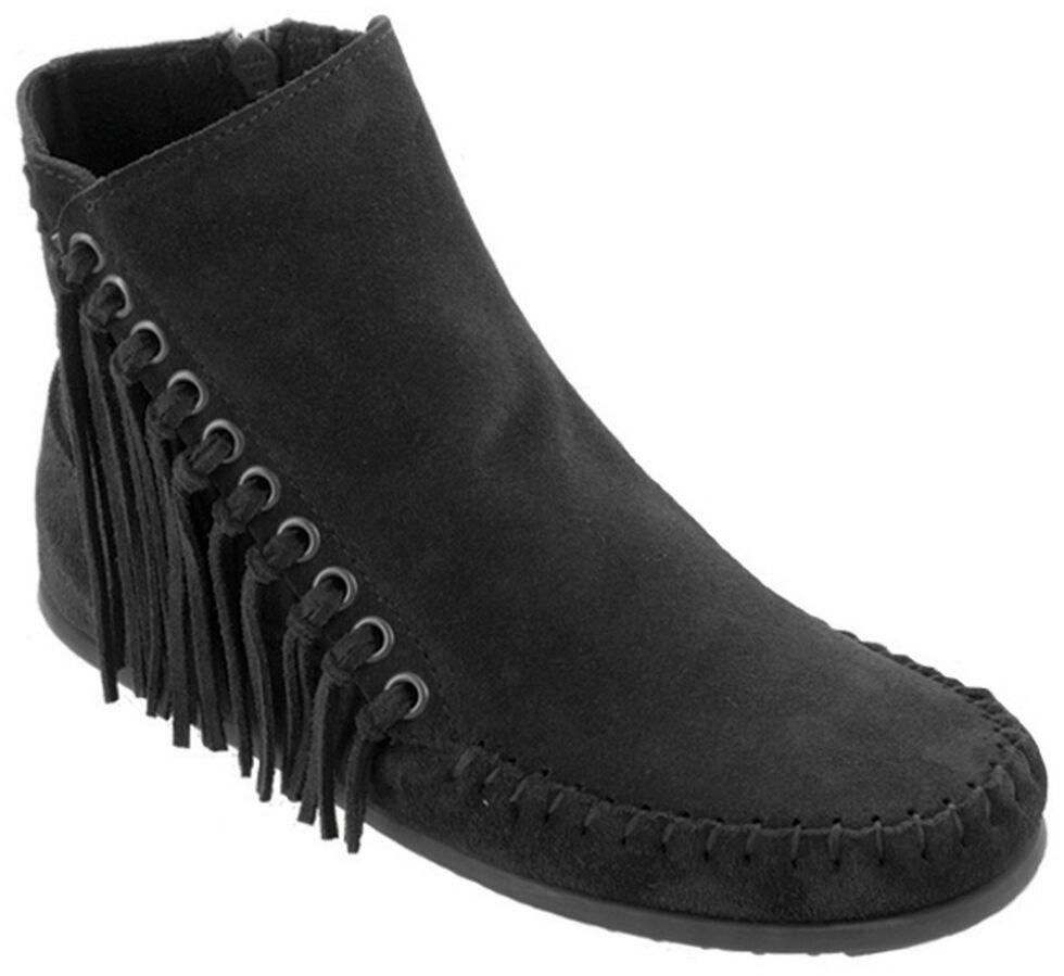 Minnetonka Women's Willow Boots, Black, hi-res