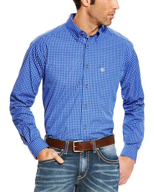 Ariat Men's Blue Pro Series Barado Plaid Western Shirt , Blue, hi-res