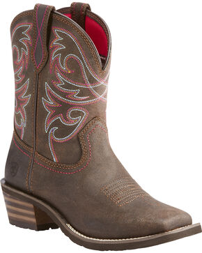 Ariat Women's Brown Riata II Western Boots - Square Toe , Dark Brown, hi-res