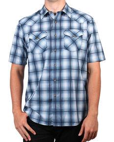 Pendleton Men's Blue Ombre Short Sleeve Plaid Shirt , Blue, hi-res