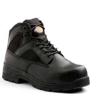 """Dickies Men's Black 6"""" Buffer Work Boots - Steel Toe , Black, hi-res"""