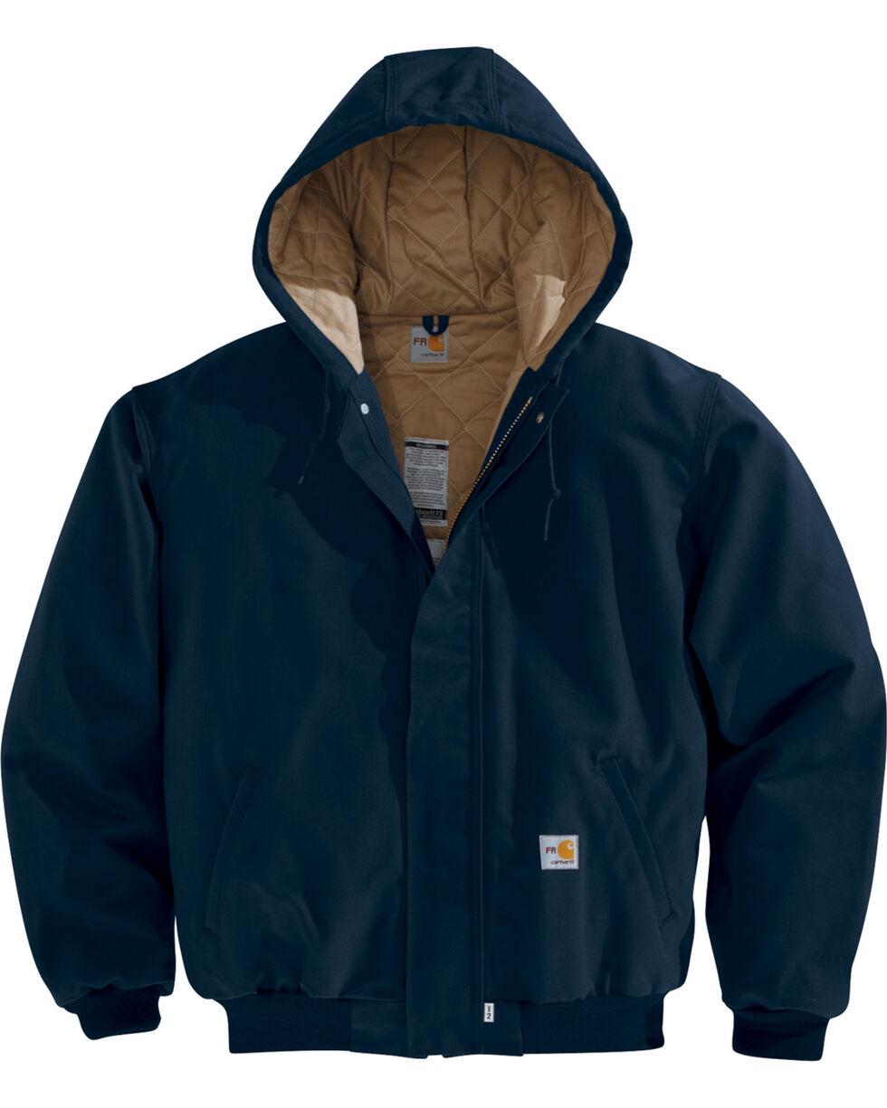 Carhartt Men's Navy Flame-Resistant Duck Active Jacket , Navy, hi-res