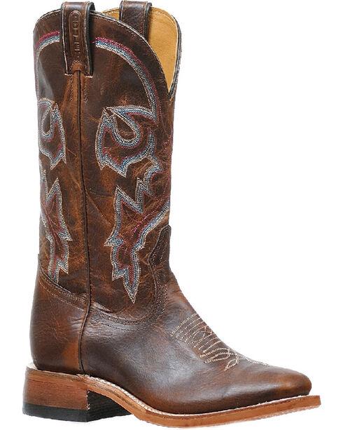 Boulet Women's Diamana Moka Cowgirl Boots - Square Toe, Brown, hi-res