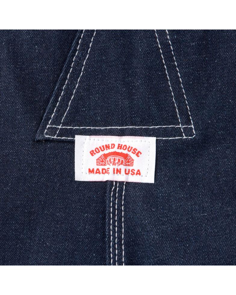 """U.S.A. Made Round House Rigid Denim Overalls - Reg, Big. Up to 50"""" Waist, Blue, hi-res"""