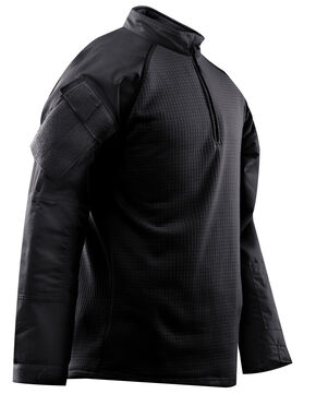 Tru-Spec Men's 1/4 Zip Winter Combat Shirt, Black, hi-res