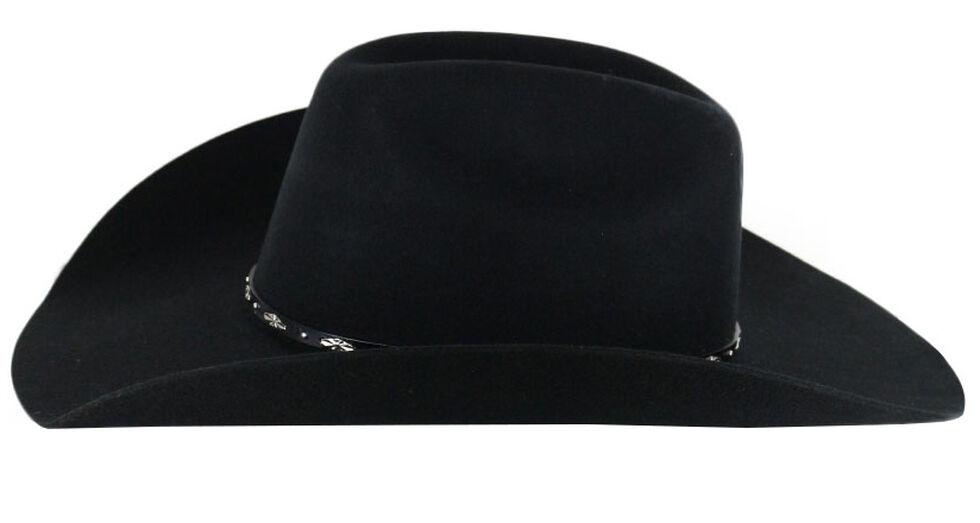 Cody James Drifter 3X Rider Crown Wool Felt Cowboy Hat, Black, hi-res