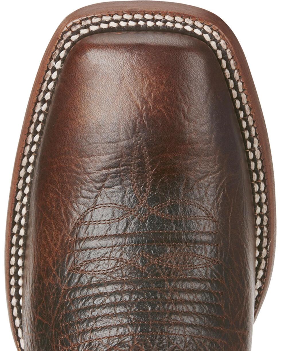 Ariat Men's Chocolate Cowtown Bullfrog Print Boots - Square Toe , , hi-res