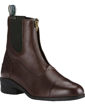 Ariat Men's Brown Heritage IV Zip Paddock Boots - Round Toe, Brown, hi-res