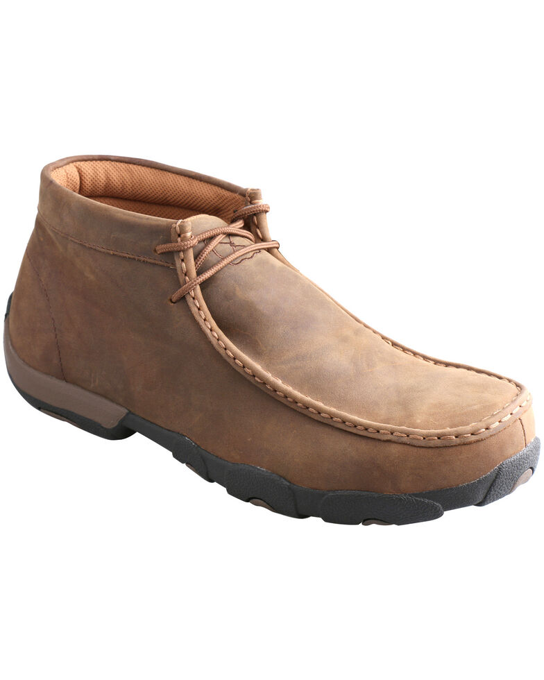 Twisted X Men's Brown Waterproof Driving Mocs - Moc Toe, Saddle Brown, hi-res