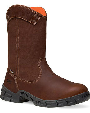 Timberland PRO Men's Excave Waterproof Wellington Work Boots - Soft Toe, Brown, hi-res