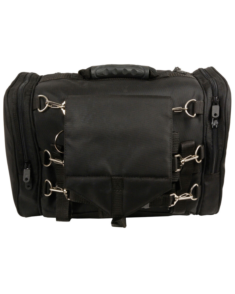 Milwaukee Leather Medium Motorcycle Sissy Bar Trunk Bag, Black, hi-res