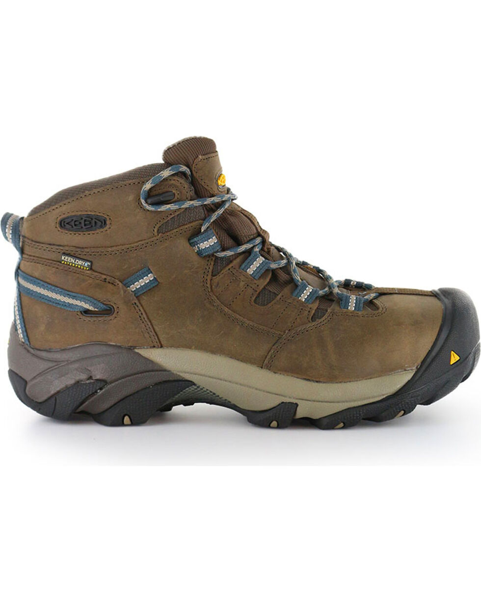 Keen Footwear Men's Detroit Mid Lace-Up Work Boots - Steel Toe , Brown, hi-res