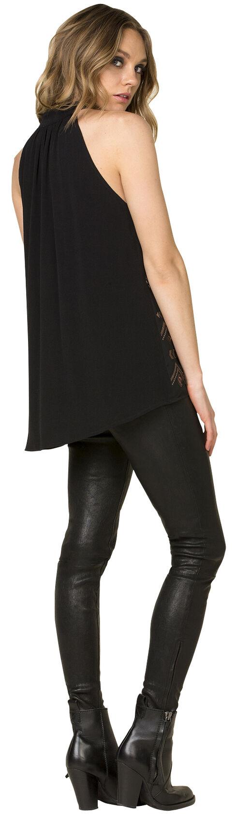 Miss Me Women's Black Sequin Halter Top , Black, hi-res