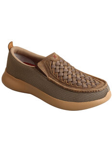 Twisted X Men's EVA12R Slip-On Shoes - Moc Toe, Brown, hi-res
