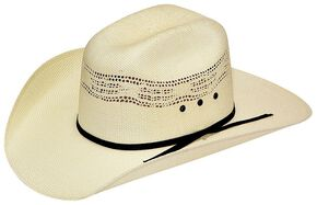 Twister Boys' Bangora Straw Cowboy Hat, Cream, hi-res