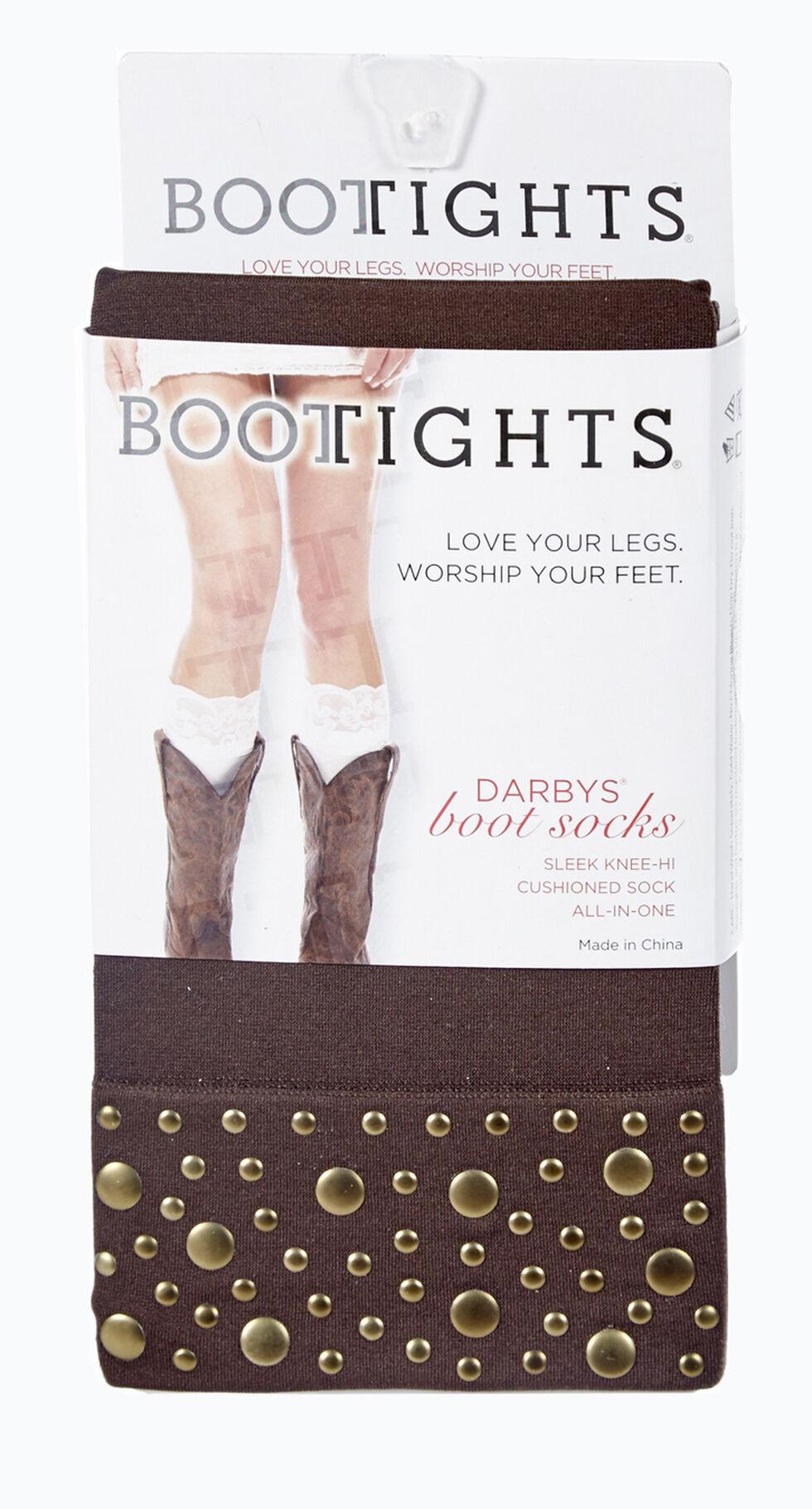 Darby's Women's Nikki Nailhead Boot Socks, Chocolate, hi-res