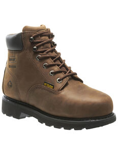 Wolverine Men's McKay Waterproof Work Boots - Steel Toe, Brown, hi-res